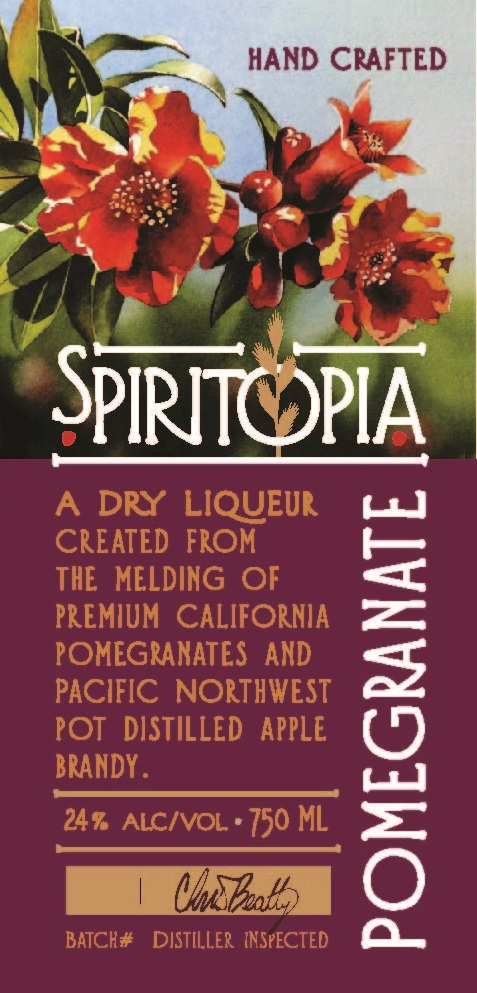 Spiritopia Pomegranate Label